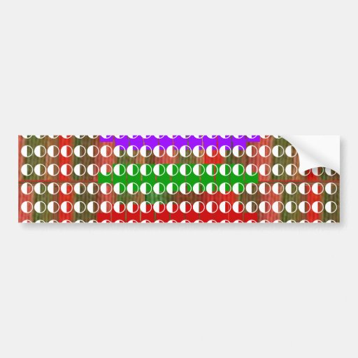 Half / Half BALANCED  Moon Energy for GOOD Bumper Sticker