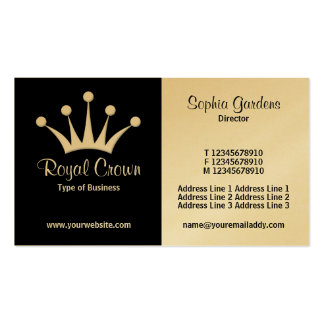 Half & Half (Crown) - Black and White (Gold) Business Card