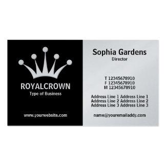 Half & Half (Crown) - Black and White (Platinum) Business Card
