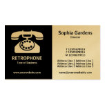 Half & Half (Phone)- Black and White (Gold) Double-Sided Standard Business Cards (Pack Of 100)