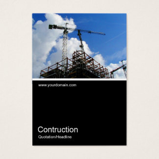 Half&Half Photo 0109 - Tower Cranes Business Card