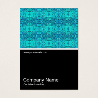 Half&Half Photo 0122 - Aqua Blue Fest Business Card