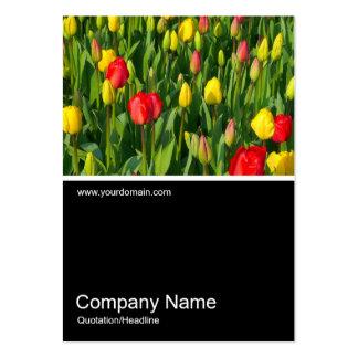 Half&Half Photo 0151 - Colorful Tulips II Large Business Card
