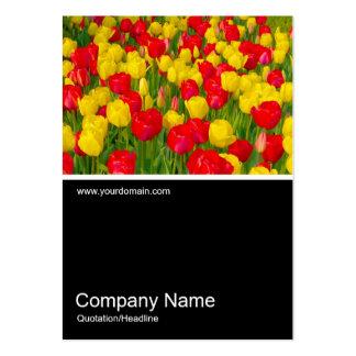 Half&Half Photo 0152 - Tulips Large Business Card