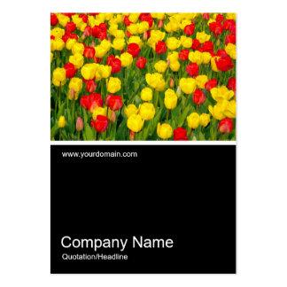 Half&Half Photo 0153 - Colorful Tulips III Large Business Card