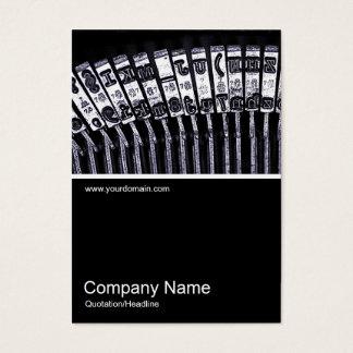Half&Half Photo 0164 - Typewriter Business Card