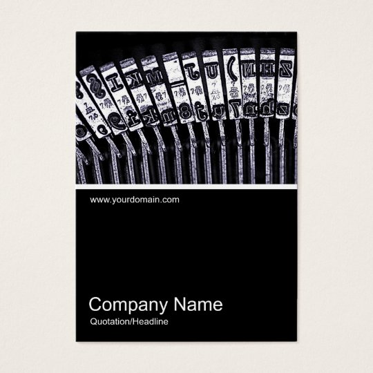 Half&Half Photo 0164 - Typewriter Business Card