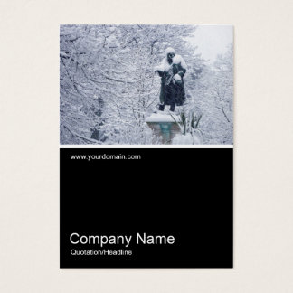 Half&Half Photo 0193 - Snow in the Park Business Card