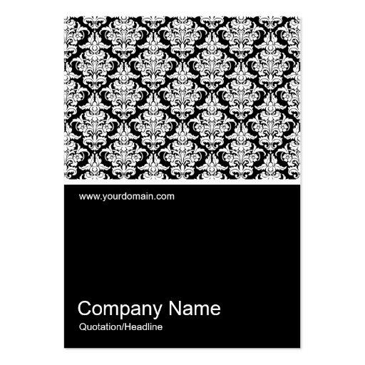 Half&Half Photo 0231 - Damask Pattern Business Card Templates