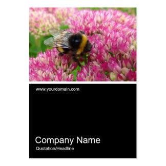 Half&Half Photo 0235 - Bumble Bee on Sedum Business Card Template