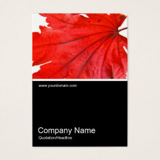 Half&Half Photo 0247 - Japanese Maple Leaf Business Card
