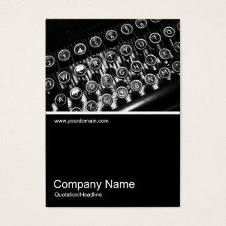 Half&Half Photo 0260 - Vintage Typewriter Business Card