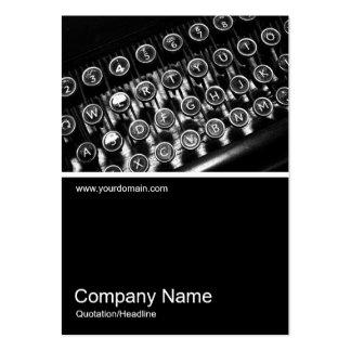 Half&Half Photo 0260 - Vintage Typewriter Large Business Cards (Pack Of 100)