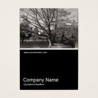 Half&Half Photo 0266 - Autumn in the Park Business Card