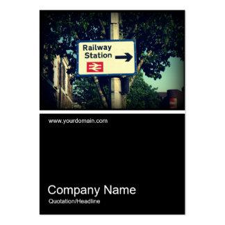 Half&Half Photo 0320 - Station Sign Large Business Card