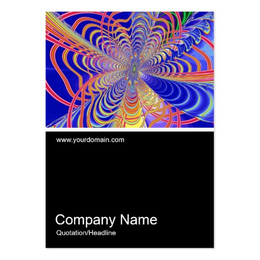 Half&Half Photo 0349 - Fractal Abstract 061012d Large Business Cards (Pack Of 100)