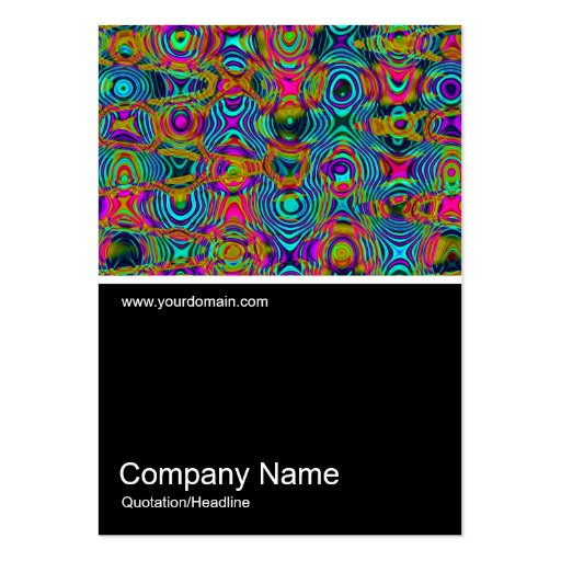 Half&Half Photo 0349 - Fractal Abstract 191111a Large Business Cards (Pack Of 100)