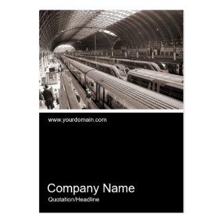 Half&Half Photo 042 - Paddington Station - London Large Business Card
