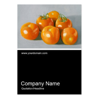 Half&Half Photo 078 - Vine Ripened Tomatoes, Oil Large Business Cards (Pack Of 100)