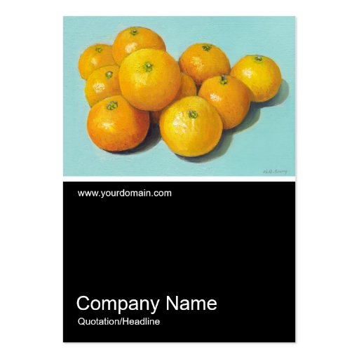 Half&Half Photo 090 - Clementines, Oil Business Cards