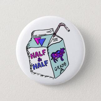 Half & Half Pinback Button