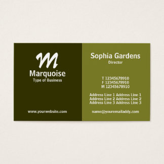 Half & Half - Shades of Green Business Card
