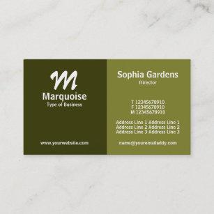Half business cards zazzle half half shades of green business card colourmoves