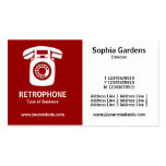Half & Half (Wallphone)- Maroon and White Double-Sided Standard Business Cards (Pack Of 100)