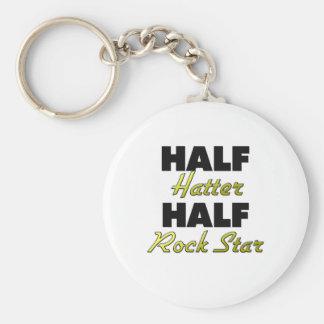 Half Hatter Half Rock Star Keychain