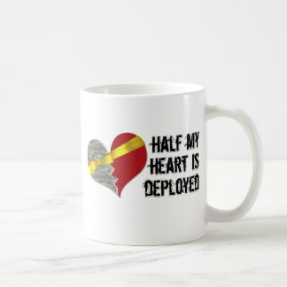 half heart is deployed coffee mug