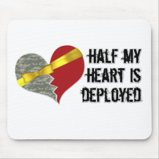 half heart is deployed mouse pad