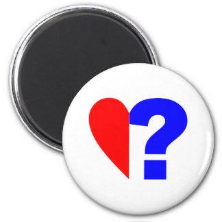 half heart question mark helped heart question Mar Magnet