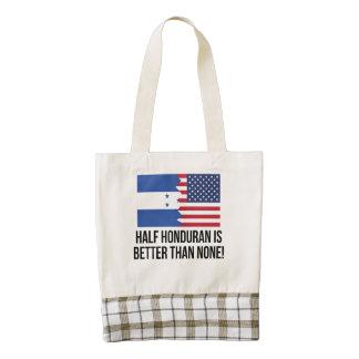 Half Honduran Is Better Than None Zazzle HEART Tote Bag