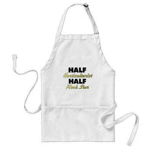 Half Horticulturist Half Rock Star Adult Apron