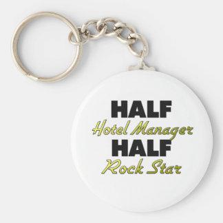 Half Hotel Manager Half Rock Star Keychain