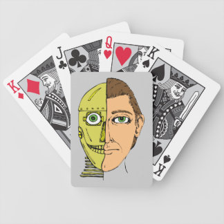 Half Human Robot Droid Head Bicycle Playing Cards