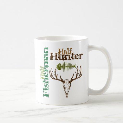 Half Hunter Half Fisherman Coffee Mugs