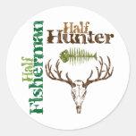 Half Hunter Half Fisherman Stickers