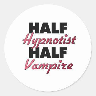 Half Hypnotist Half Vampire Round Sticker