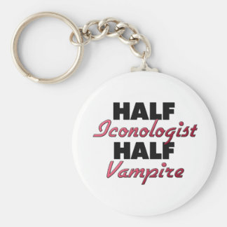 Half Iconologist Half Vampire Key Chains