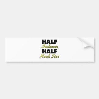 Half Indexer Half Rock Star Bumper Sticker