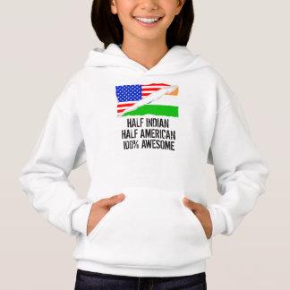 Half Indian Half American Awesome Hoodie