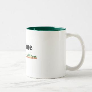 Half Indian Two-Tone Coffee Mug