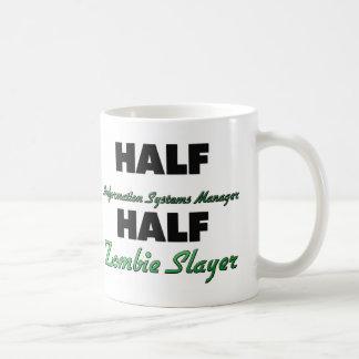 Half Information Systems Manager Half Zombie Slaye Classic White Coffee Mug
