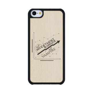 Half Investment Banker, Half Vampire Carved® Maple iPhone 5C Slim Case