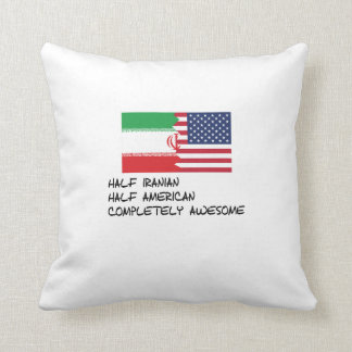 Half Iranian Completely Awesome Throw Pillow