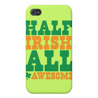 HALF IRISH ALL AWESOME funny St Patrick's day iPhone 4/4S Cover