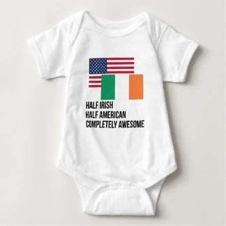 Half Irish Completely Awesome Baby Bodysuit