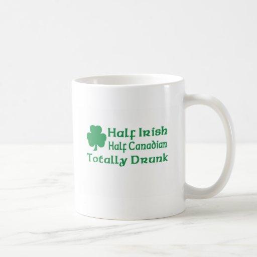 Half Irish Half Canadian Totally Drunk Classic White Coffee Mug