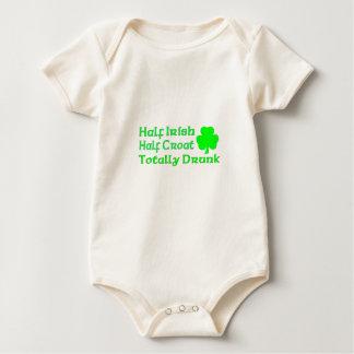 Half Irish Half Croatian Totally Awesome Baby Bodysuit